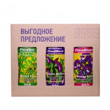 FloraSet HW 1 л (набор удобрений Flora Series для жесткой воды)